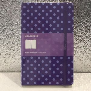 Purple Polka Dot Moleskine Ruled Notebook